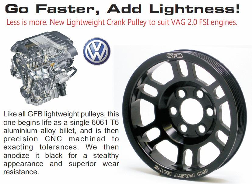 Lekkie koło pasowe VW Golf/Passat / Audi A3/TT 2.0 FSI  [GFB] - GRUBYGARAGE - Sklep Tuningowy