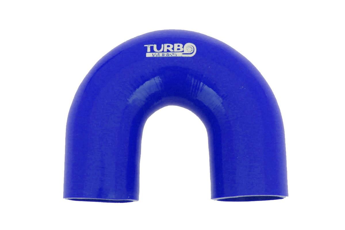 Kolanko 180st TurboWorks Blue 63mm - GRUBYGARAGE - Sklep Tuningowy
