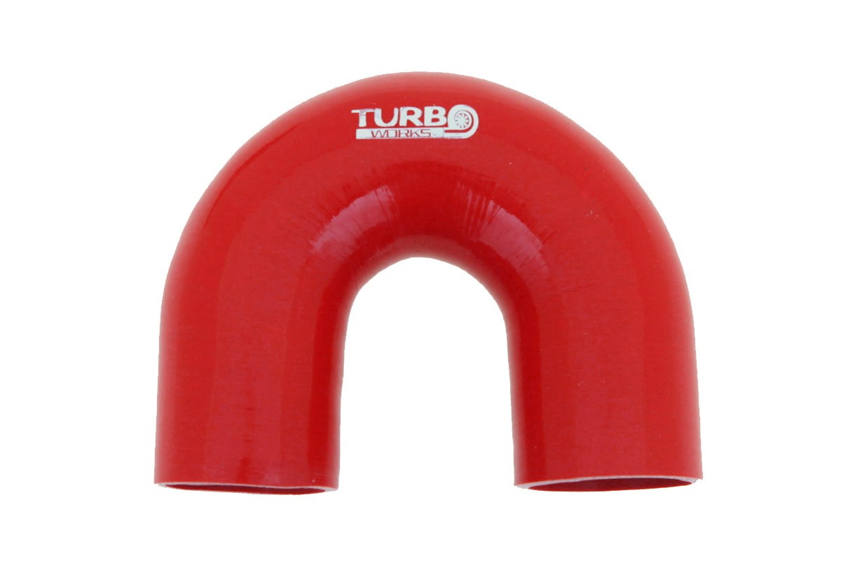 Kolanko 180st TurboWorks Red 63mm - GRUBYGARAGE - Sklep Tuningowy