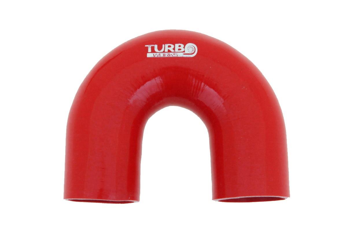 Kolanko 180st TurboWorks Red 76mm - GRUBYGARAGE - Sklep Tuningowy