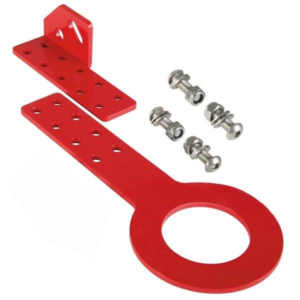 Aluminiowy uchwyt holowniczy SANDTLER Czerwony - GRUBYGARAGE - Sklep Tuningowy