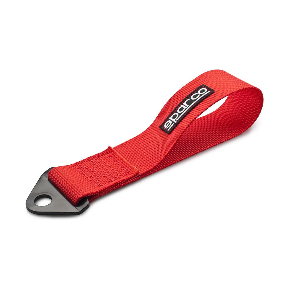 Pas / pętla holownicza (Tow Strap) Sparco Czerwony - GRUBYGARAGE - Sklep Tuningowy