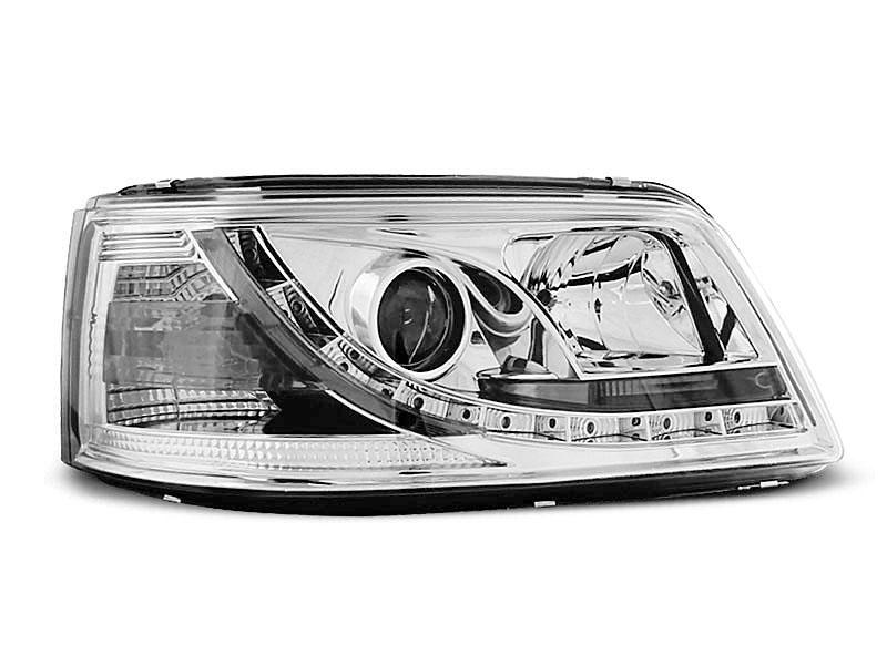HEADLIGHTS TRUE DRL CHROME fits VW T5 04.03-08.09 - GRUBYGARAGE - Sklep Tuningowy