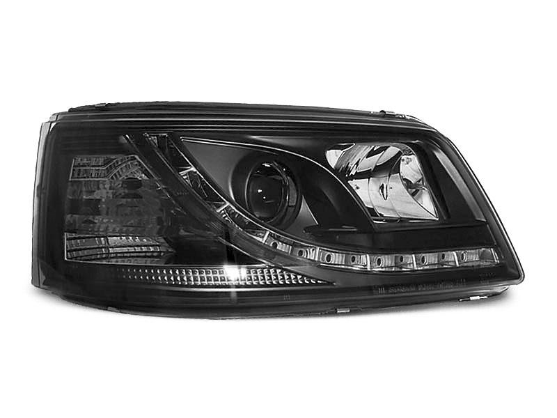 HEADLIGHTS TRUE DRL BLACK fits VW T5 04.03-08.09 - GRUBYGARAGE - Sklep Tuningowy