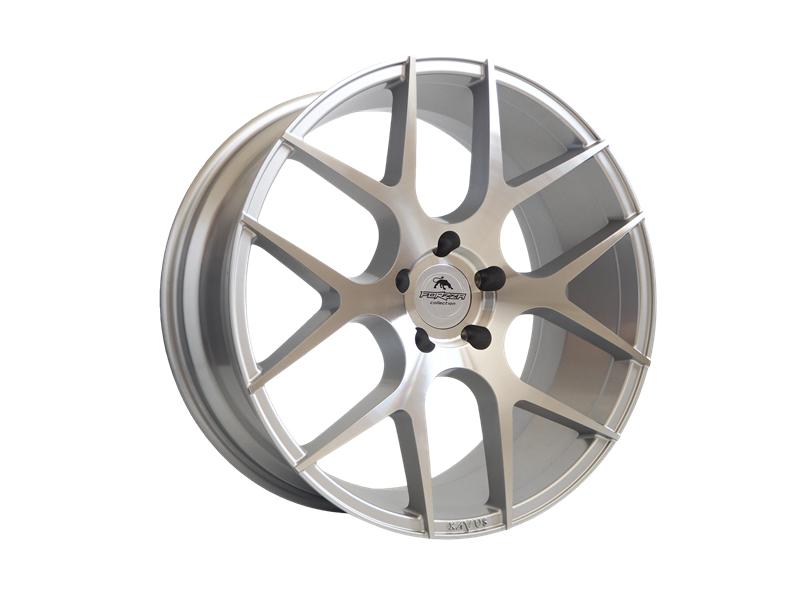 Forzza Ambra 10.5x20 5x120 Silver Face Machined - GRUBYGARAGE - Sklep Tuningowy