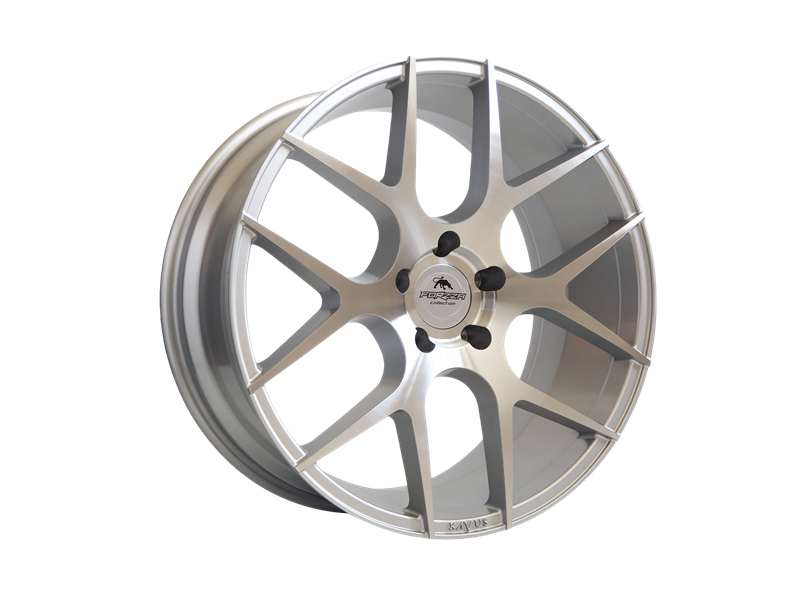 Forzza Ambra 9x20 5x112 Silver Face Machined - GRUBYGARAGE - Sklep Tuningowy