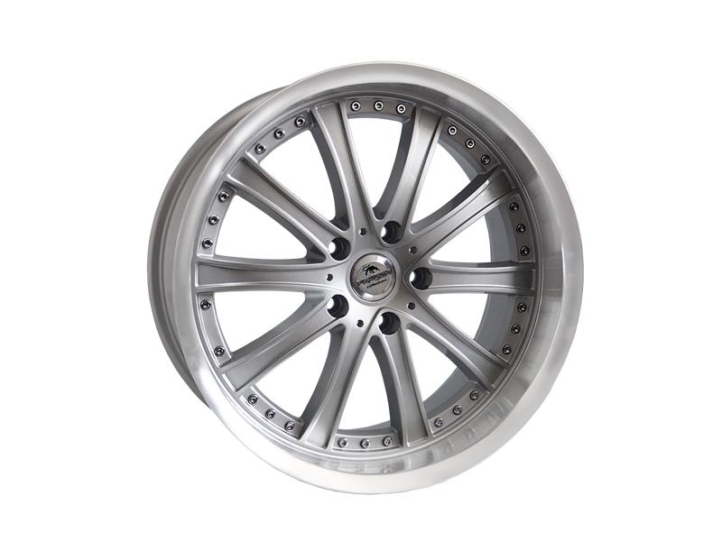 Forzza Code 8.5x19 5x120 Silver Lip Machined - GRUBYGARAGE - Sklep Tuningowy