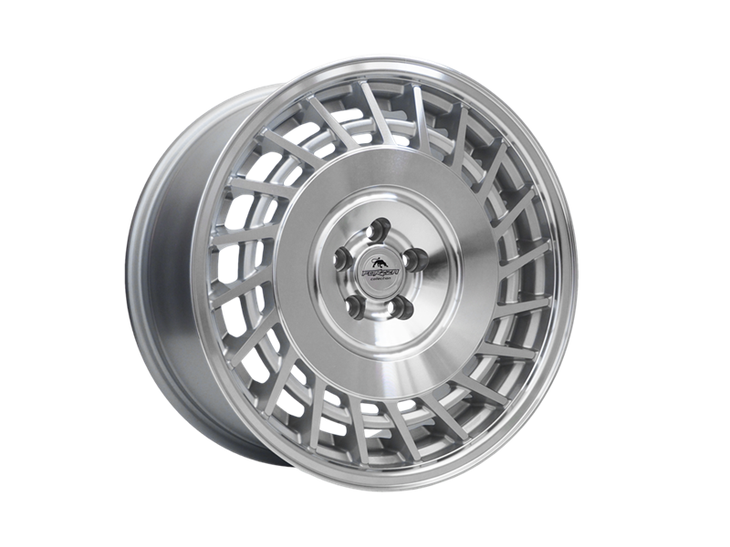 Forzza Limit 8.5x18 5x120 Silver Machined / Lip polished - Lewe - GRUBYGARAGE - Sklep Tuningowy