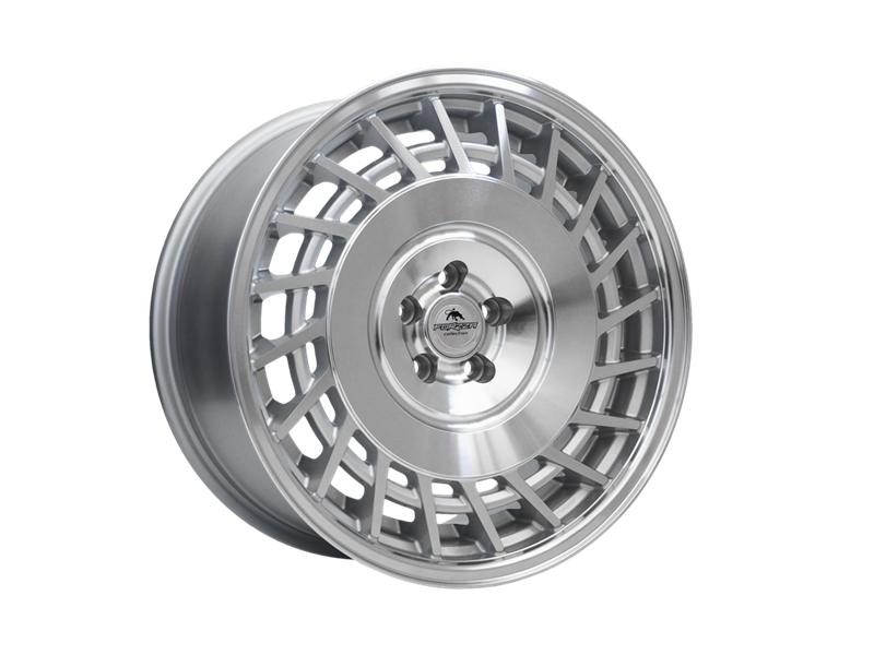 Forzza Limit 9.5x18 5x120 Silver Machined / Lip polished - Lewe - GRUBYGARAGE - Sklep Tuningowy